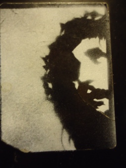 Jesus picture spray painted by Josh Conrad.