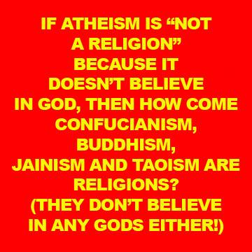 atheism is not a religion