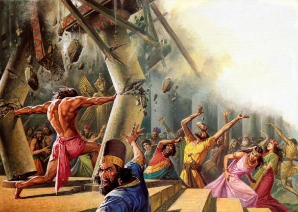 Samson brings down the house, killing about 3,000 Philistines.