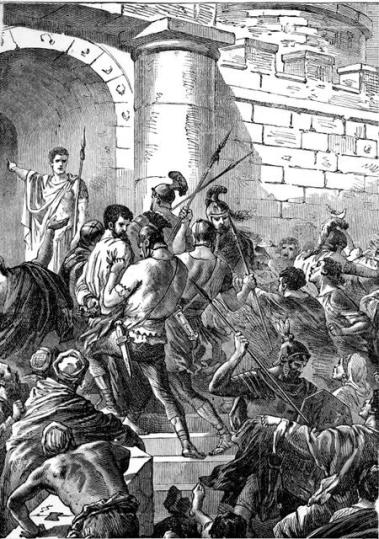 Aristarchus grabbed in the riot at Ephesus - Acts 19.