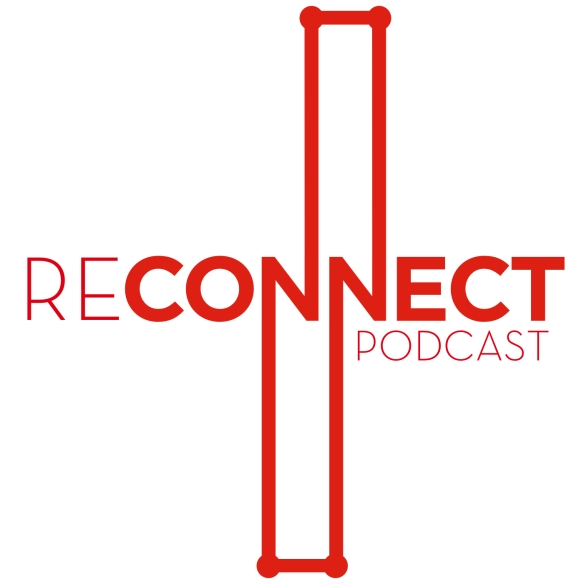 Reconnect logo designed by Kyle Beshears, author of Robot Jesus.